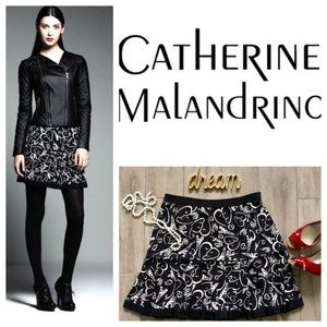 Catherine Malandrino Skirts - Paris Skirt Catherine Malandrino Doodle Black